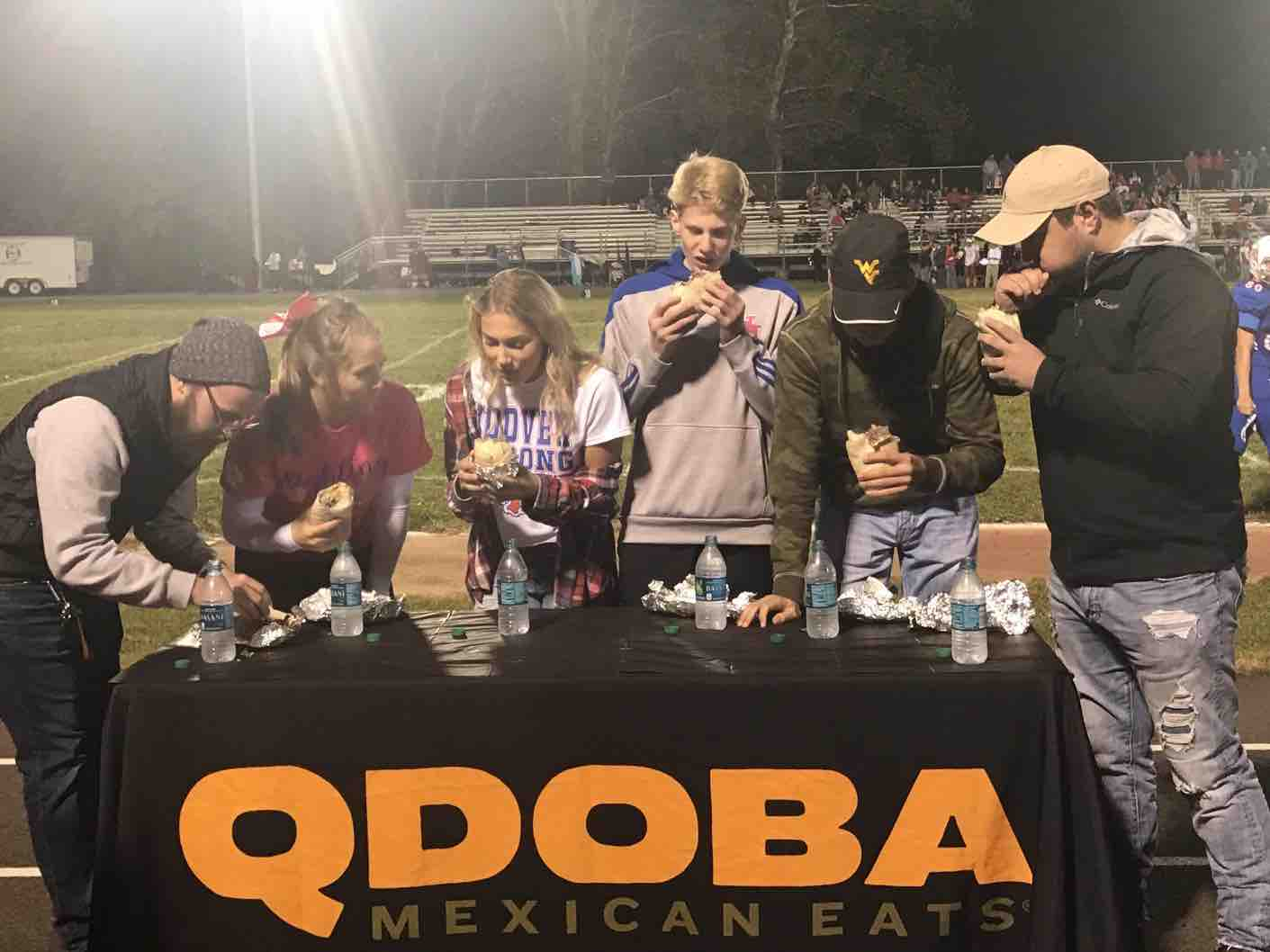 Burrito Eating Contest - WV High School Football Game