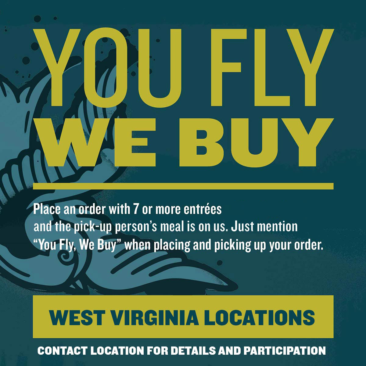 You Fly, We Buy, Qdoba Coupon